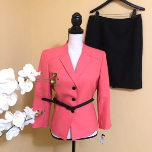 Tahari coral two piece jacket size 10P